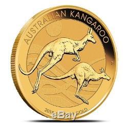 2018-P (Perth) Australia 1 oz. 9999 Fine Gold Kangaroo Coin In Mint Capsule