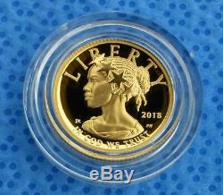 2018 Proof 1/10th oz. 9999 Fine Gold $10 American Liberty, Gold Proof $10 Coin