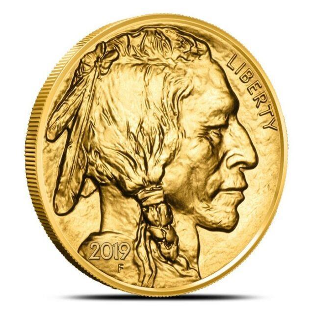 2019 1 Oz. 9999 Fine (24k) $50 Gold American Buffalo Coin Gem Uncirculated (bu)