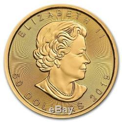 2019 1 oz Canadian Gold Maple Leaf Coin. 9999 Fine Gold BU