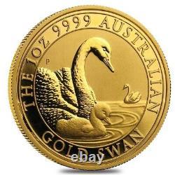 2019 1 oz Gold Australian Swan Perth Mint. 9999 Fine BU In Cap