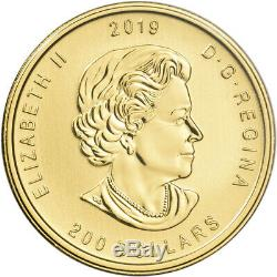2019 Canada Gold Moose $200 1 oz BU in Sealed Assay. 99999 Fine