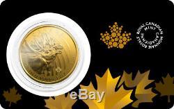 2019 Canadian 1oz Gold Moose. 99999 Fine in Assay BU