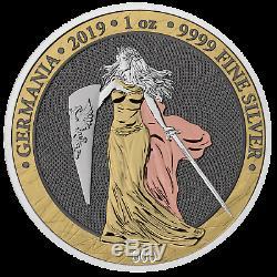 2019 Germania 5 Mark 1oz. 999 fine Silver Proof Coin & Bunc Collectors editions