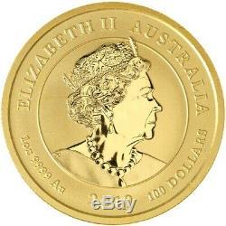 2019 Gold 1 Oz Australia $100 Chinese Dragon & Tiger. 9999 Fine Coin BU+