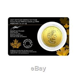 2019 Gold 1oz Canadian Moose. 99999 Fine $200 Gold Call of the Wild in Assay