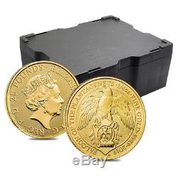 2019 Great Britain 1/4 oz Gold Queen's Beasts (Falcon) Coin. 9999 Fine BU