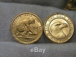 2020 1/10 troy oz. 999 Fine GOLD Daniel Carr Design Prospector Gold Bullion Coin