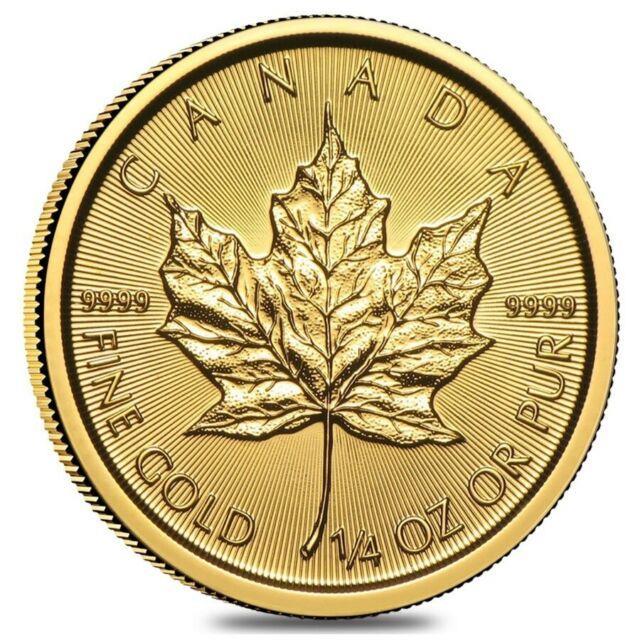 2020 1/4 Oz Canadian Gold Maple Leaf $10 Coin. 9999 Fine Bu (sealed)