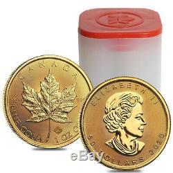 2020 1 oz Canadian Gold Maple Leaf $50 Coin. 9999 Fine BU