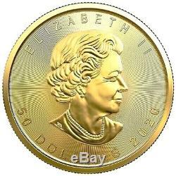 2020 1 oz Gold Canada $50 Dollar Maple Leaf Elizabeth II. 9999 Fine Coin UNC+