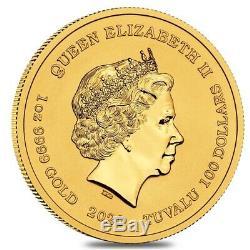 2020 1 oz Tuvalu Homer Simpson Gold Coin. 9999 Fine BU In Cap