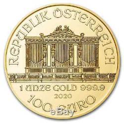 2020 Austria 1 oz Gold Philharmonic Coin. 9999 Fine BU