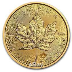 2020 Canada 1 oz Gold Maple Leaf $50 Coin. 9999 Fine BU