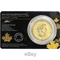 2020 Canada Gold Bobcat $200 1 oz BU in Sealed Assay. 99999 Fine