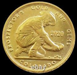 2020 Gold Bullion 999 Fine 24kt 1/10 Oz American Prospector Gold & Gems Colorado