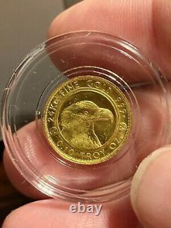 2020 Gold Bullion 999 fine 24KT 1/10 Oz Colorado Prospector