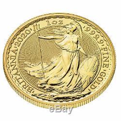 2020 Great Britain 1oz Gold Britannia. 9999 Fine BU
