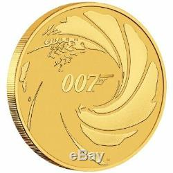 2020 James Bond 007 $100. 1oz. 99.99% fine Gold ONLY 500 GOLD COINS IN CARD