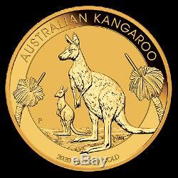 2020 Perth Mint 1 oz Gold Australian Kangaroo $100 Gold Coin. 9999 Fine BU