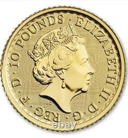 2021 1/10oz Gold Britannia Coin. 9999 Fine BU