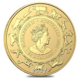 2021 1/2 oz Gold Lunar Year of the Ox Coin. 9999 Fine BU Royal Australian Mint
