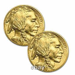2021 1 oz American Gold Buffalo $50 Coin BU. 9999 Fine (Lot of 2)