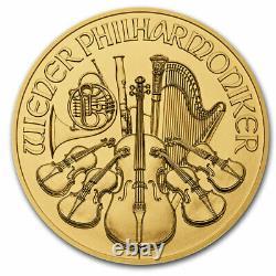 2021 1 oz Austrian Gold Philharmonic Coin BU. 9999 Fine Gold