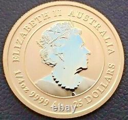 2021 Australia P 1/4 oz. Gold Lunar Series III Year of the Ox. 9999 Fine Gold