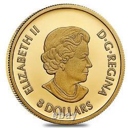 2021 Canada 1/20 oz Triumphant Dragon Proof Gold Coin. 9999 Fine (withBox & COA)