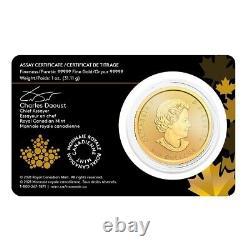 2021 Canada 1 oz Gold Panning for Gold Coin Klondike Gold Rush. 99999 Fine BU