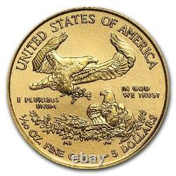 2021 Gold American Eagle 1/10 Troy oz Fine Gold USA Capsuled PRE-SALE BU Coin