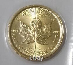 2021 Gold Canadian Maple Leaf 1/4 oz. Fine Gold. 9999 Gem Brilliant