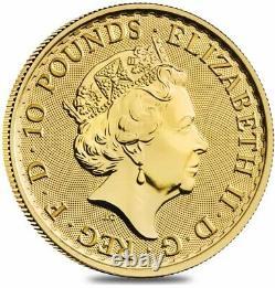 2021 Great Britain 1/10 oz Gold Britannia Coin. 9999 Fine BU