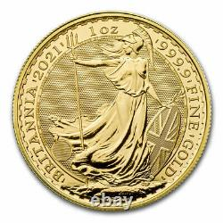 2021 Great Britain 1 oz Gold Britannia BU Coin. 9999 Fine Gold