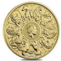 2021 Great Britain 1 oz Gold Queen's Beasts Completer Coin. 9999 Fine BU