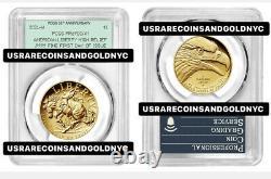 2021-w $100 Gold. 9999 Fine American Liberty High Relief Pcgs 35th Pr70 Dcam