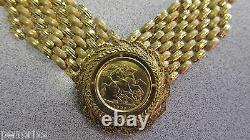 21 K Gold 1925 King Sovereign Coin Necklace 17 inch Pure 21k Gold Make Offer