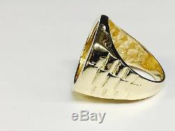 22K-14K FINE GOLD 1/4 OZ LADY LIBERTY COIN in 14k gold Ring