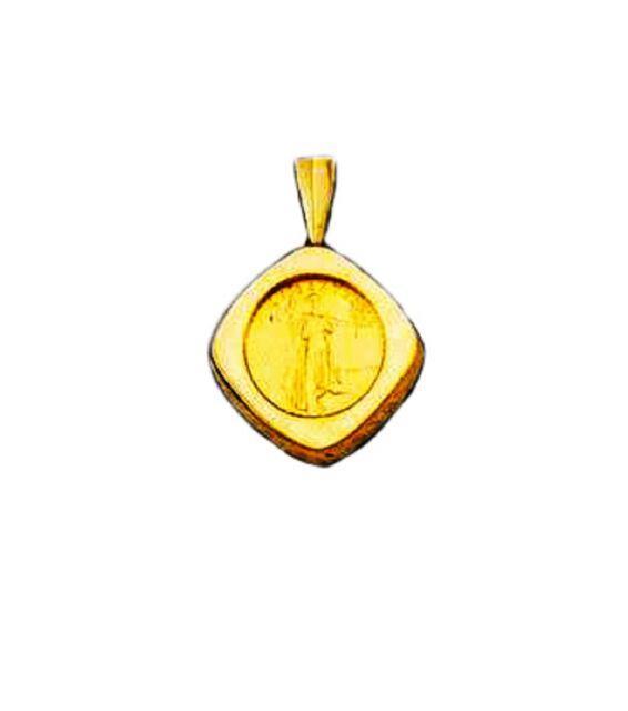 22k Fine Gold 1/10 Oz Lady Liberty Coin Set In -14k Frame Pendant