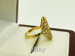 22K Saudi Indian Yellow Gold Ring with. 999 Fine Gold Credit Suisse Bullion s6.25