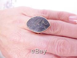 22ct gold ancient coin warrior ring, 22k