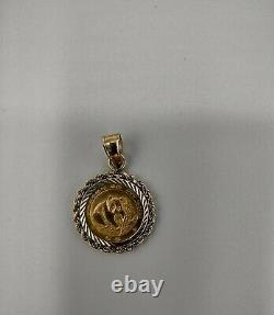 24K Fine Gold. 999 1988 1/20 oz. Panda Coin Pendant