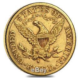 $5 Gold Half Eagle Liberty Head Extra Fine XF (Random Year)