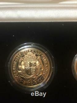 500th Anniversary of the first Gold Sovereign Proof Set 4 coins Actual fine gold