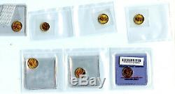 7 Lot 1/10 oz. Fine Gold American Eagle, Canadian Maple Leaf $5 $1 1/20 BU Coins