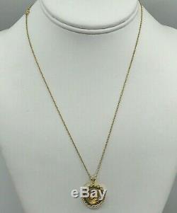 999 Fine Gold 24K 5 Yuan PANDA COIN 14K GOLD Bezel Pendant & Necklace Chain