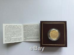 999 Fine Gold Proof 2001 Guernsey £25.00 Coin 7.81 grams C. O. A No Reserve