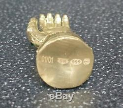 999 Fine Silver Gold Plated Gauntlet 01/01