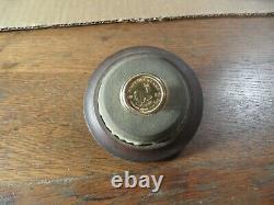 A7-13 Estate 14K gold coin men's ring Kugerran gold coin 10.3 grams total size 9